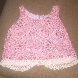 Pink Patterned Crop Top from Target